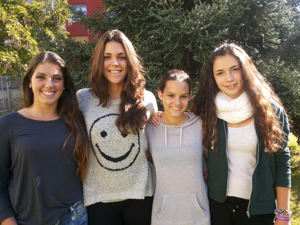 D'esquerra a dreta Mélodie, Sònia, Alice i Anna