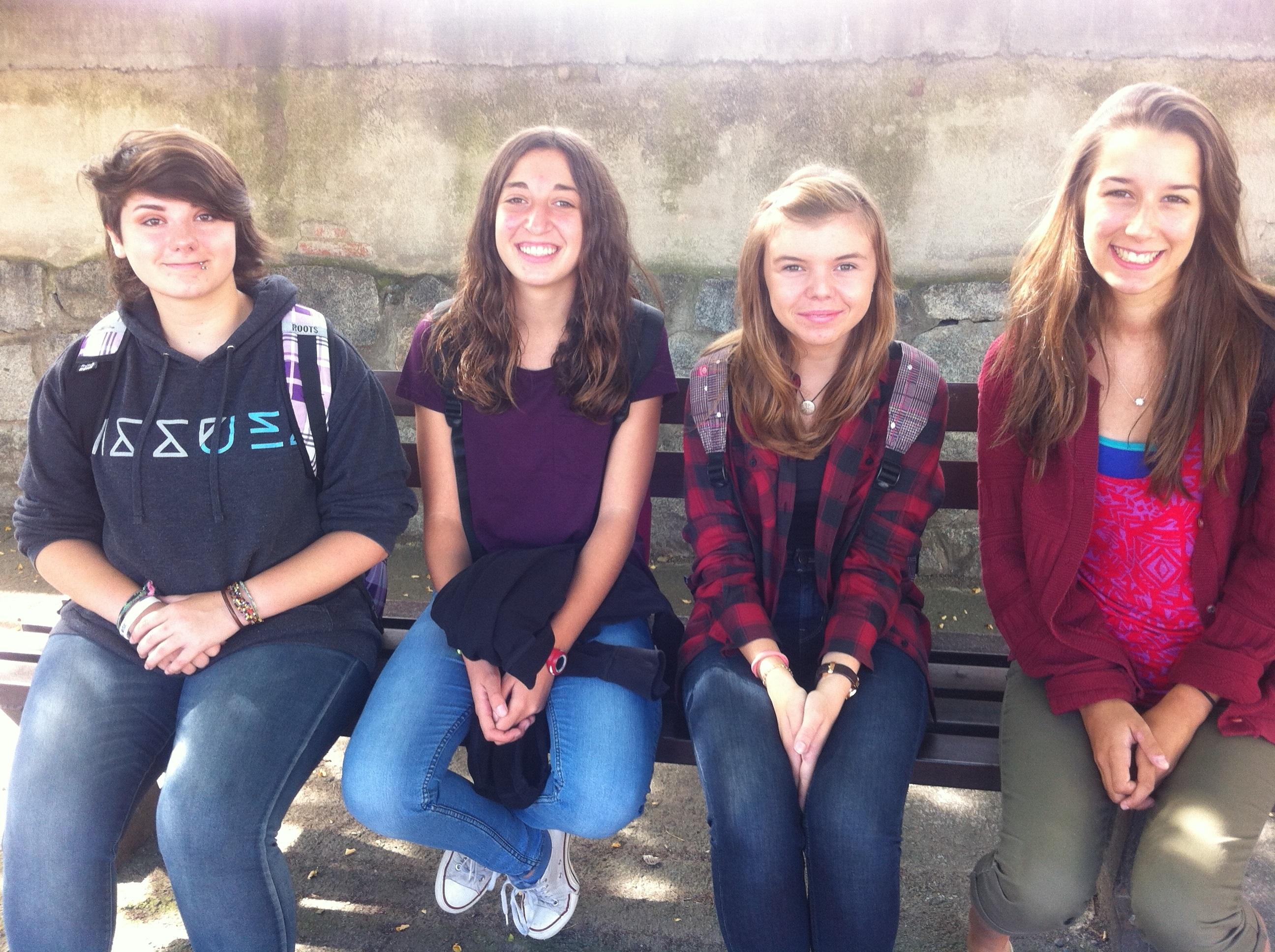 D'esquerra a dreta Kelyn, Laia, Júlia i Samantha