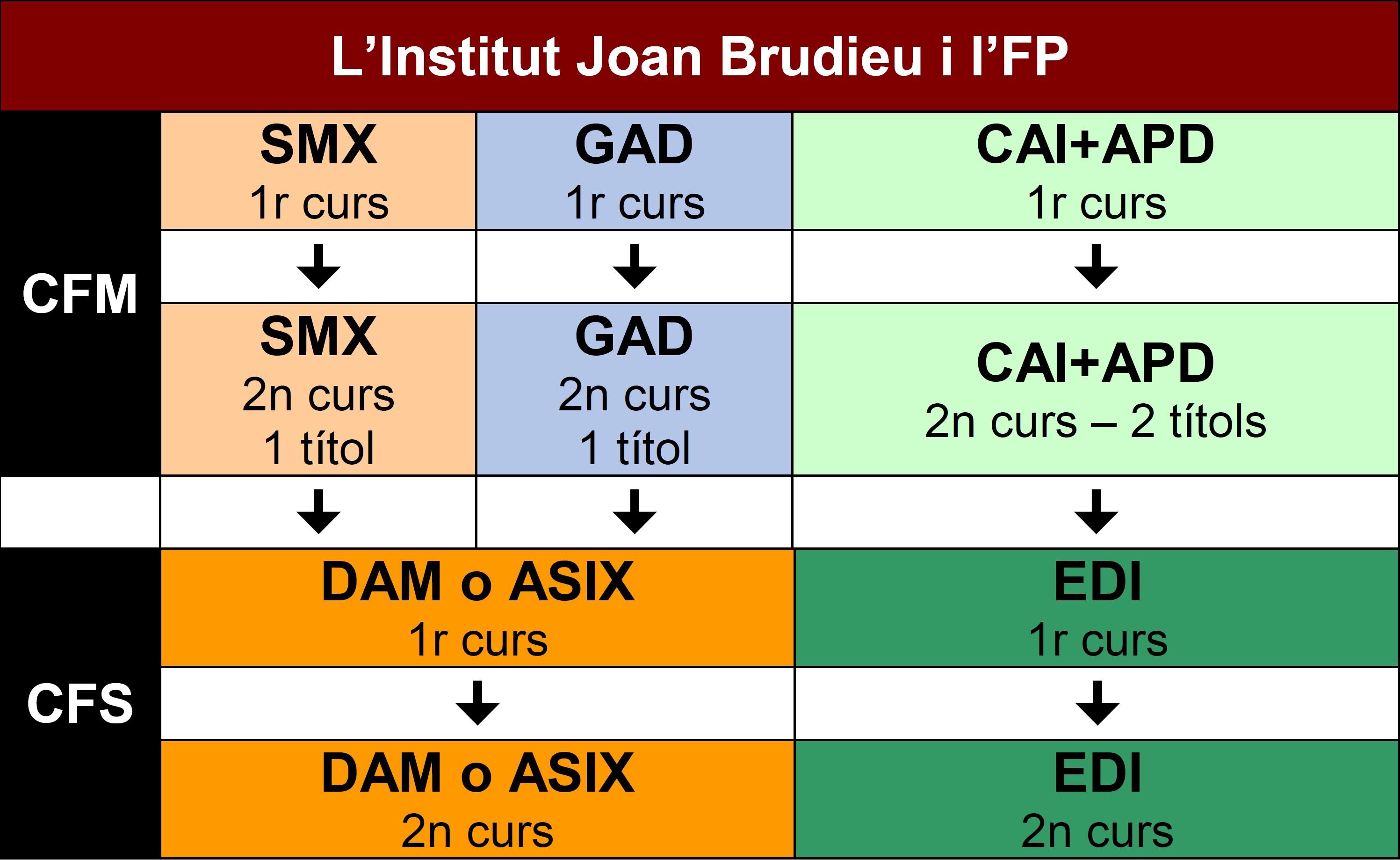 FP a l'Institut Joan Brudieu